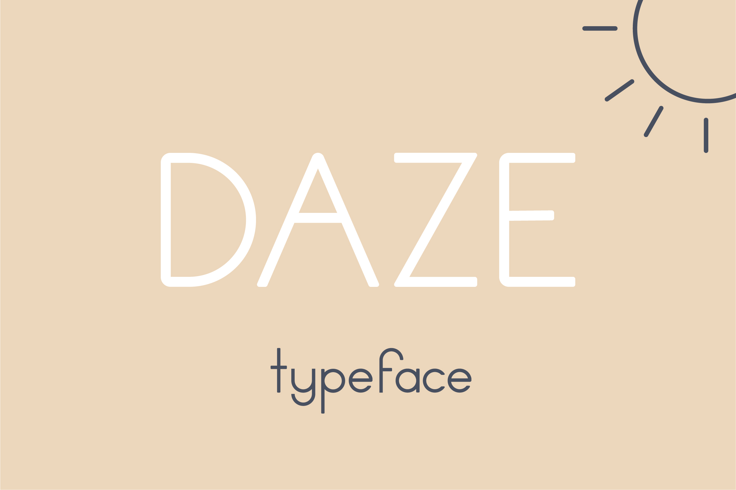 Print on Demand: Daze Sans Serif Font By Mike Hill