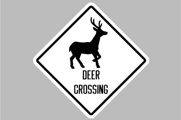 Download Free Deer Crossing Sign Svg Cut File By Creative Fabrica Crafts for Cricut Explore, Silhouette and other cutting machines.
