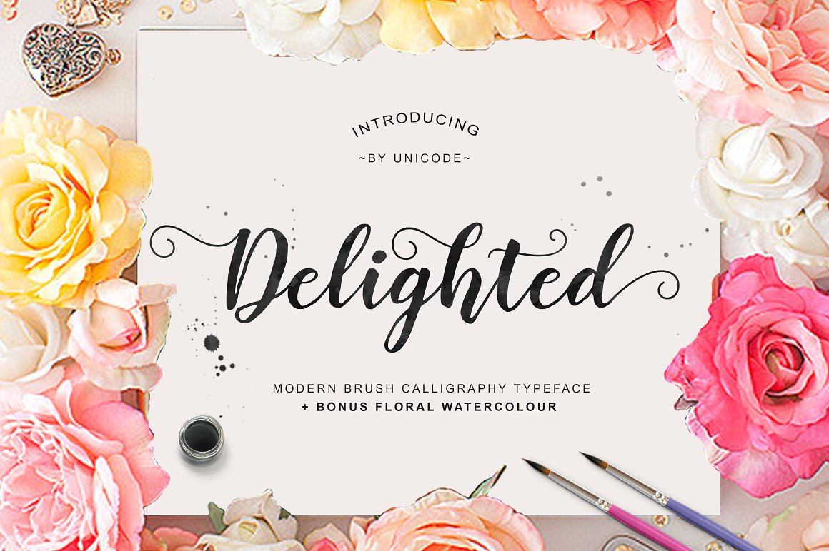 Print on Demand: Delighted Script & Handwritten Font By Unicode Studio