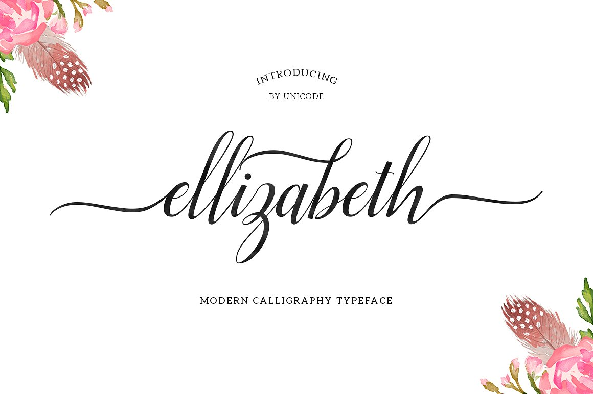 Print on Demand: Ellizabeth Script & Handwritten Font By Unicode Studio