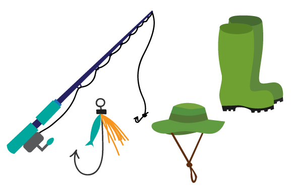 Fishing Design Set Nature & Outdoors Craft Cut File By Creative Fabrica Crafts
