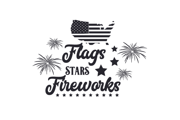 Flags Stars Fireworks Svg Cut File By Creative Fabrica Crafts