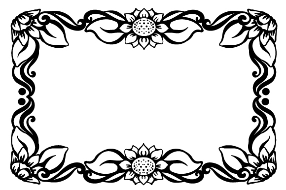 Floral Frame Designs & Drawings Craft Cut File By Creative Fabrica Crafts - Image 1