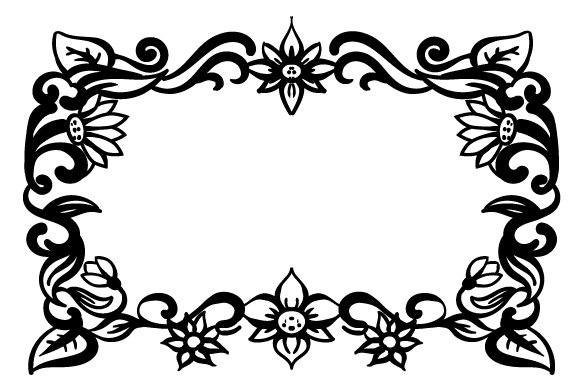 Floral Frame Designs & Drawings Craft Cut File By Creative Fabrica Crafts