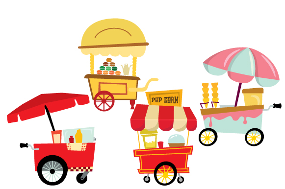 Food Carts Design Set Designs & Drawings Craft Cut File By Creative Fabrica Crafts