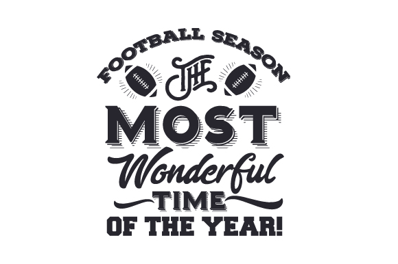 Download Free Football Season The Most Wonderful Time Of The Year Svg Cut for Cricut Explore, Silhouette and other cutting machines.