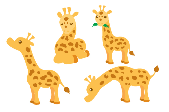 Download Free Giraffes Design Set Svg Cut File By Creative Fabrica Crafts for Cricut Explore, Silhouette and other cutting machines.