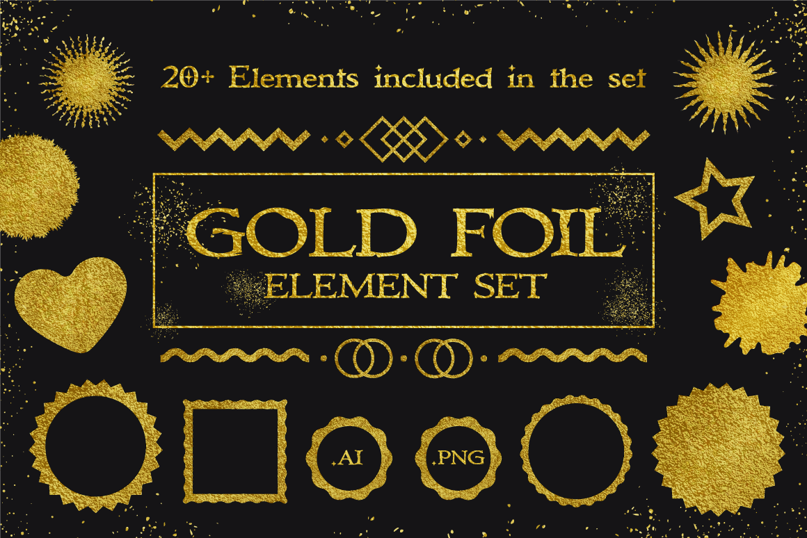 Gold Foil Element Set