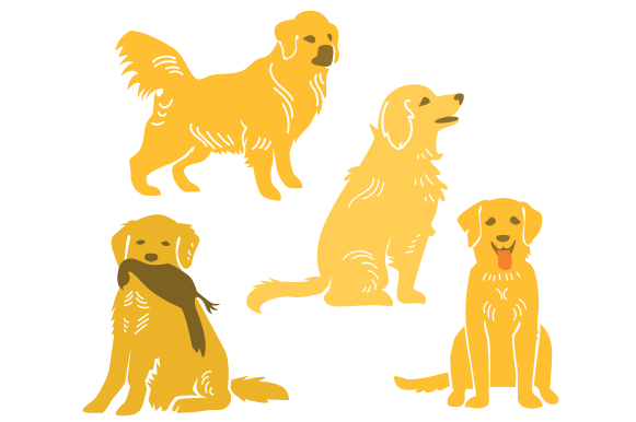 Golden Retriever Design Set Craft Design By Creative Fabrica Crafts