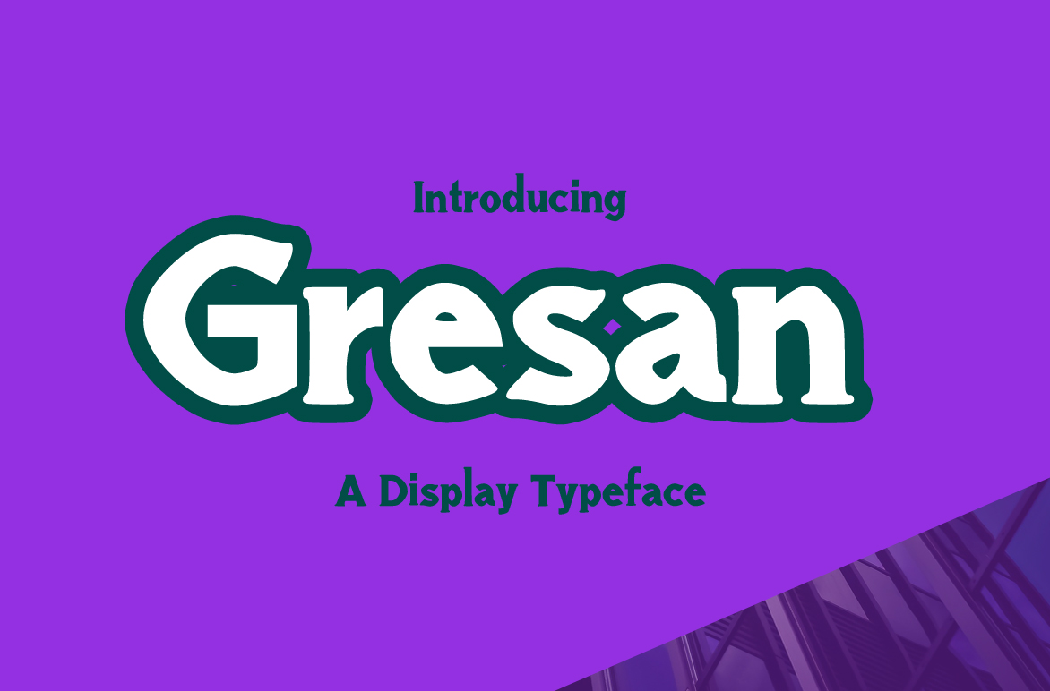 Print on Demand: Gresan Display Font By Contour Fonts