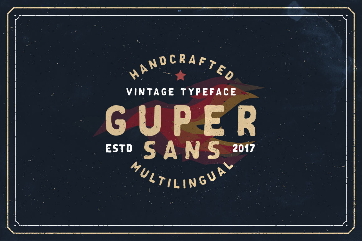 Print on Demand: Guper Sans Display Font By Roman Paslavskiy