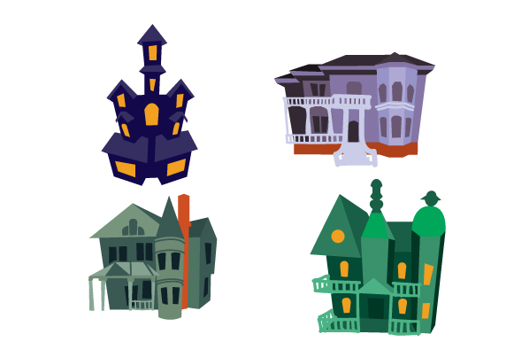Halloween House Design Set 1 Halloween Craft Cut File By Creative Fabrica Crafts