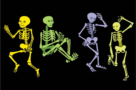 Halloween Skeletons Design Set Halloween Archivo de Corte Craft Por Creative Fabrica Crafts