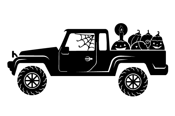 Halloween Truck Svg Cut File By Creative Fabrica Crafts