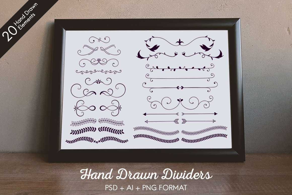 Hand Drawn Dividers Graphic Objects By The Stock Croc