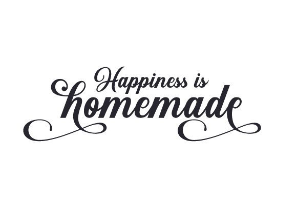Playful image inside happiness is homemade
