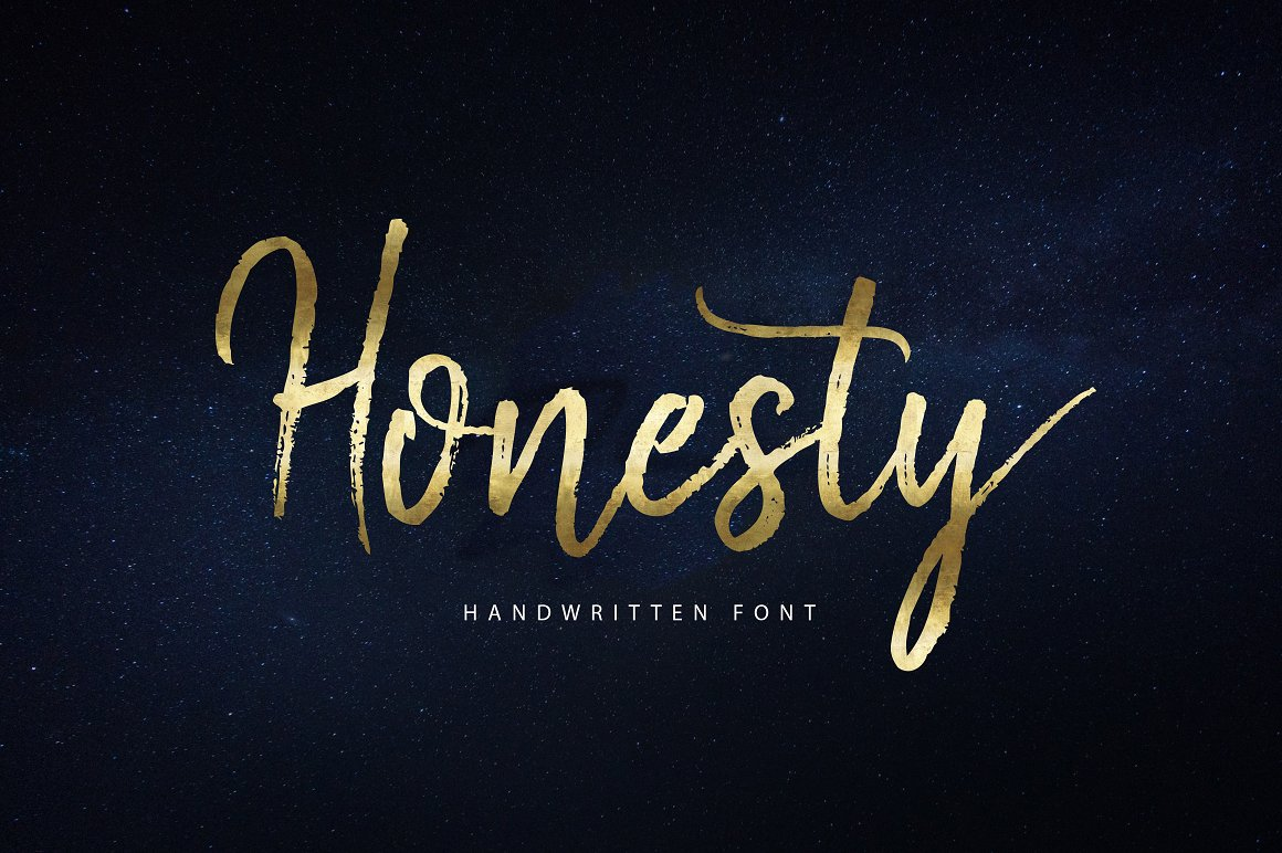 Print on Demand: Honesty Script & Handwritten Font By Unicode Studio - Image 1