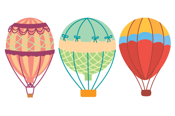 Download Free Hot Air Balloons Design Set Archivos De Corte Svg Por Creative for Cricut Explore, Silhouette and other cutting machines.