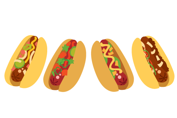 Hot Dogs Design Set Designs & Drawings Craft Cut File By Creative Fabrica Crafts