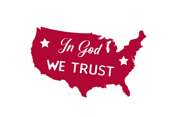 In God We Trust Independence Day Craft Cut File By Creative Fabrica Crafts