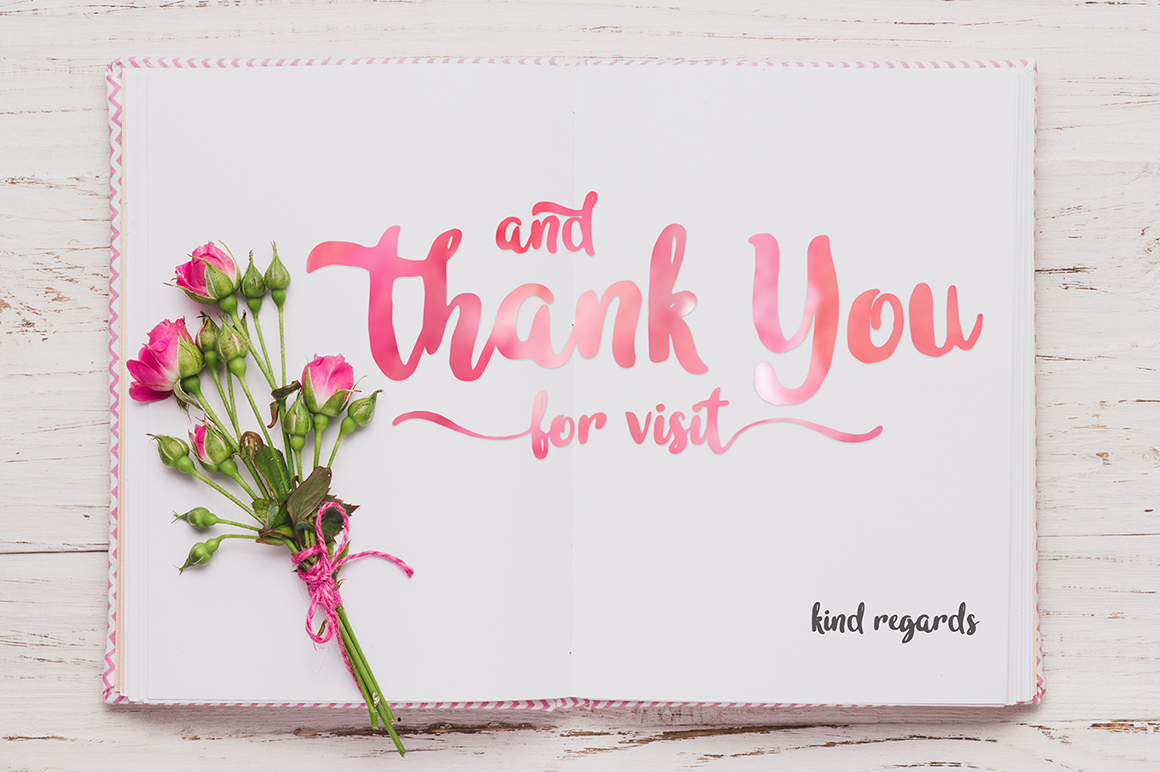 Print on Demand: In Blossom Script & Handwritten Font By madeDeduk - Image 10