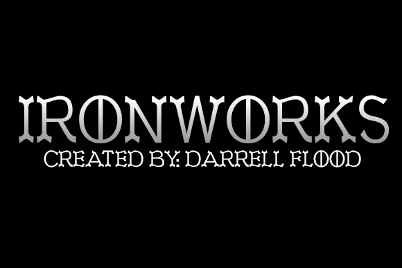 Print on Demand: Ironworks Display Font By Dadiomouse