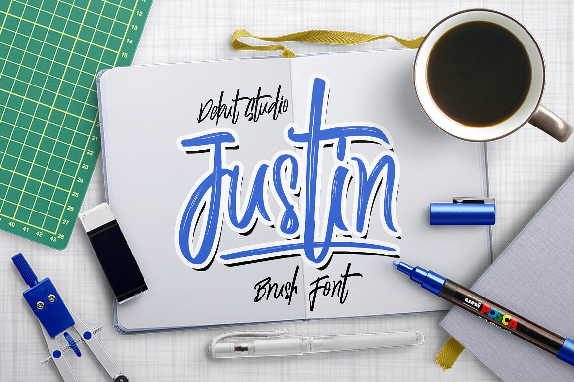 Justin Brush Font Font By Debut Studio
