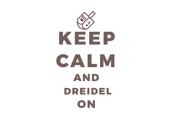 Keep Calm and Dreidel on Jewish Craft Cut File By Creative Fabrica Crafts