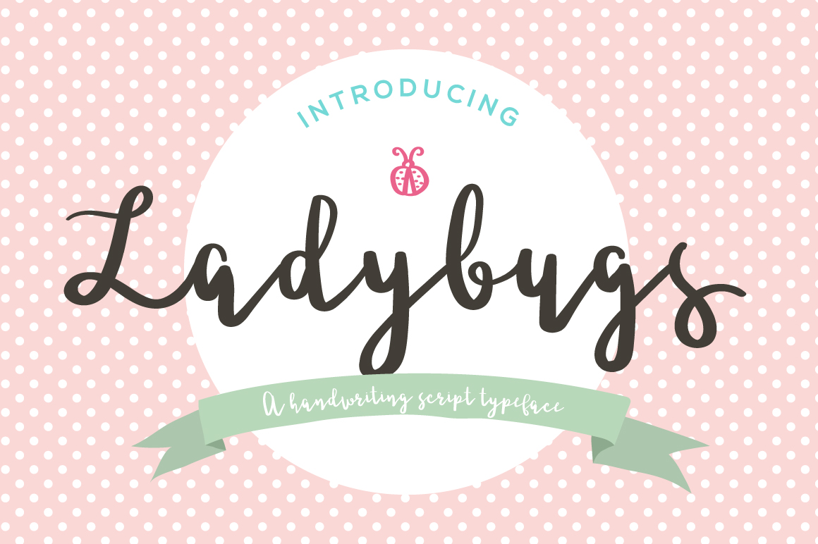 Print on Demand: Ladybugs Script & Handwritten Font By paramajandesign