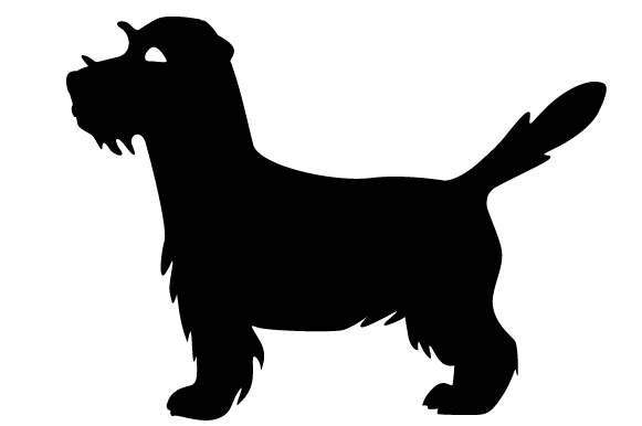 Download Free Long Haired Jack Russell Terrier Silhouette Svg Cut File By for Cricut Explore, Silhouette and other cutting machines.