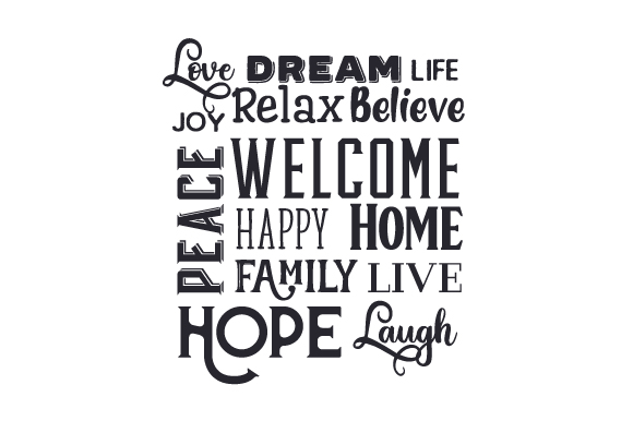 Love, Dream, Family - Wordcloud Quotes Craft Cut File By Creative Fabrica Crafts
