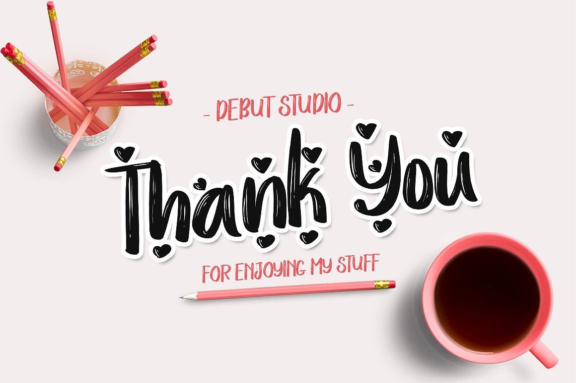Print on Demand: Love Story Script & Handwritten Font By Debut Studio - Image 6