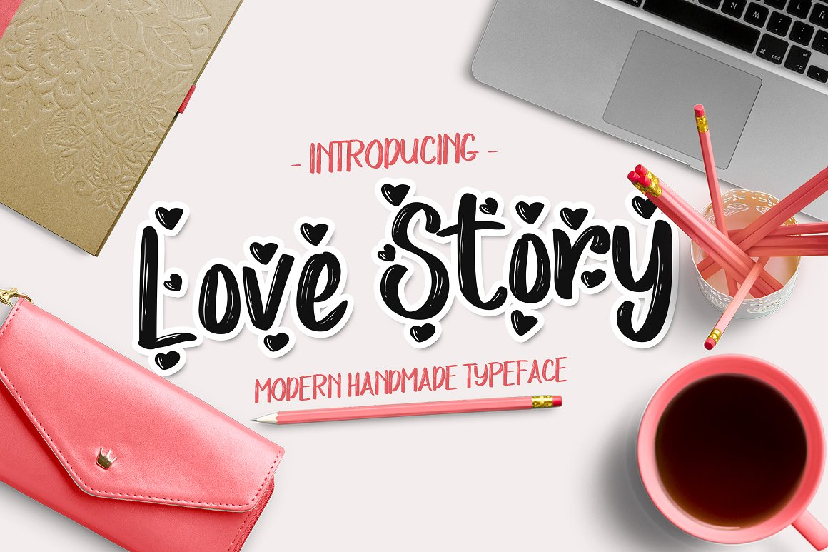 Print on Demand: Love Story Script & Handwritten Font By Debut Studio - Image 1