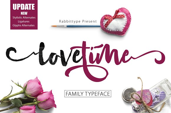 Love Time Font By Olexstudio
