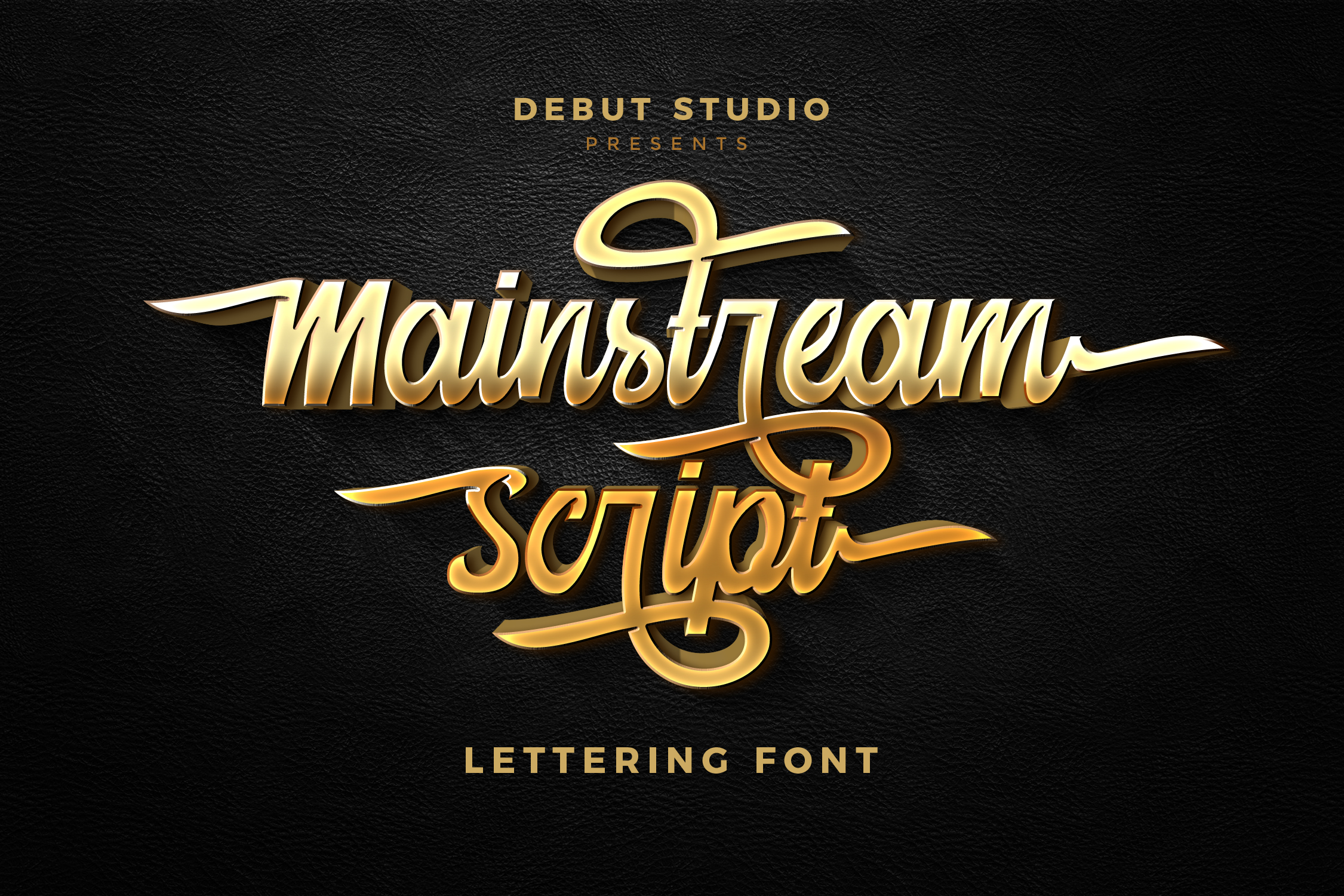 Print on Demand: Mainstream Script & Handwritten Font By Debut Studio