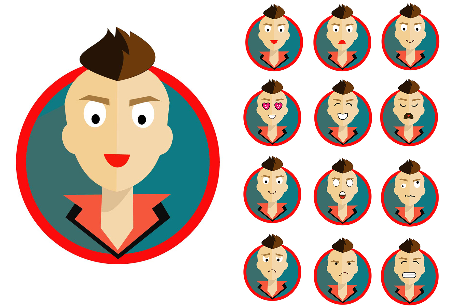 Print on Demand: Man Flat Icon Graphic Icons By Gblack Id