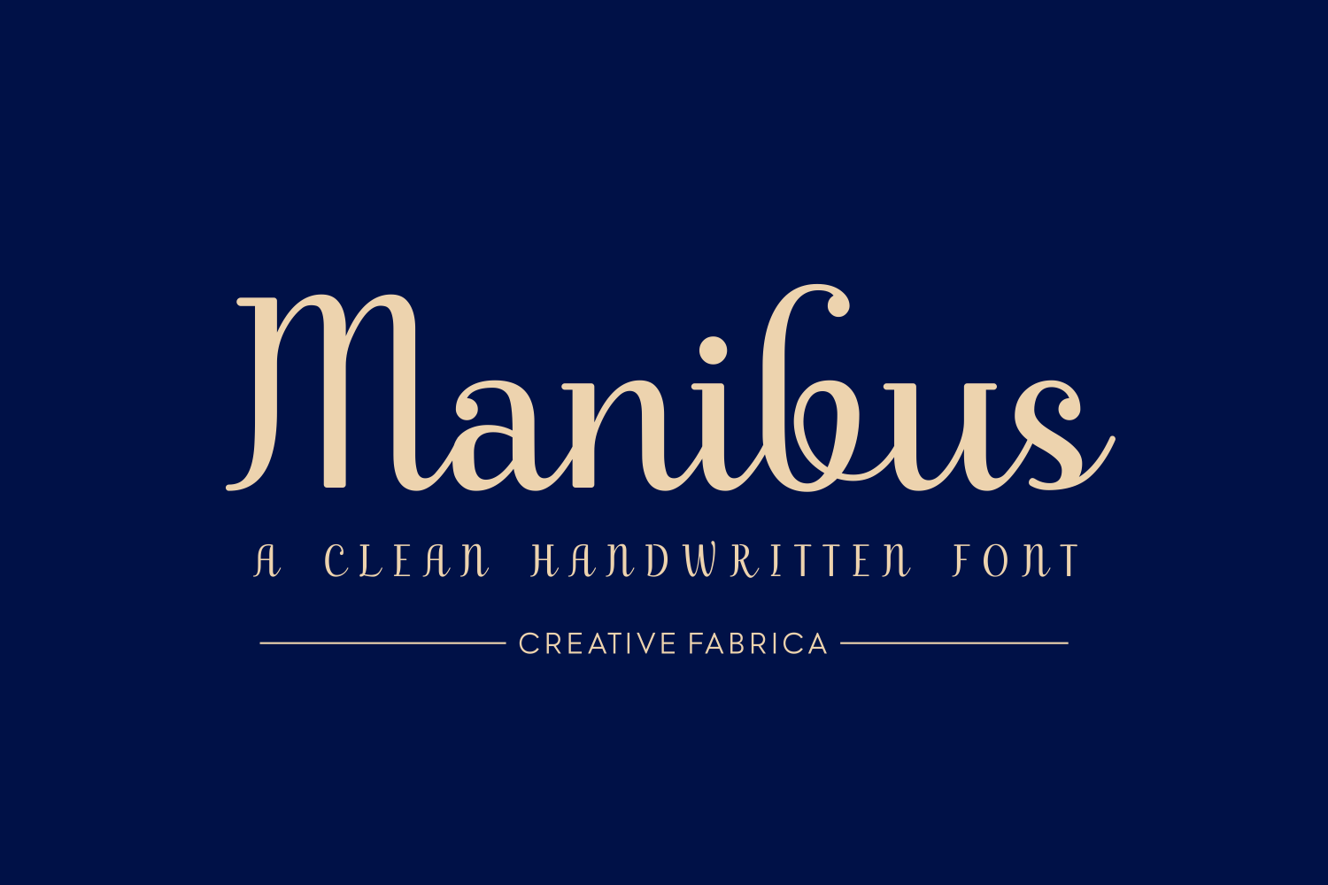 Print on Demand: Manibus Script & Handwritten Font By Creative Fabrica Fonts