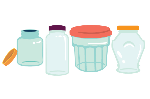 Download Free Mason Jars Design Set Svg Cut File By Creative Fabrica Crafts for Cricut Explore, Silhouette and other cutting machines.