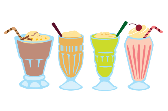 Download Free Milkshakes Design Set Svg Cut File By Creative Fabrica Crafts for Cricut Explore, Silhouette and other cutting machines.