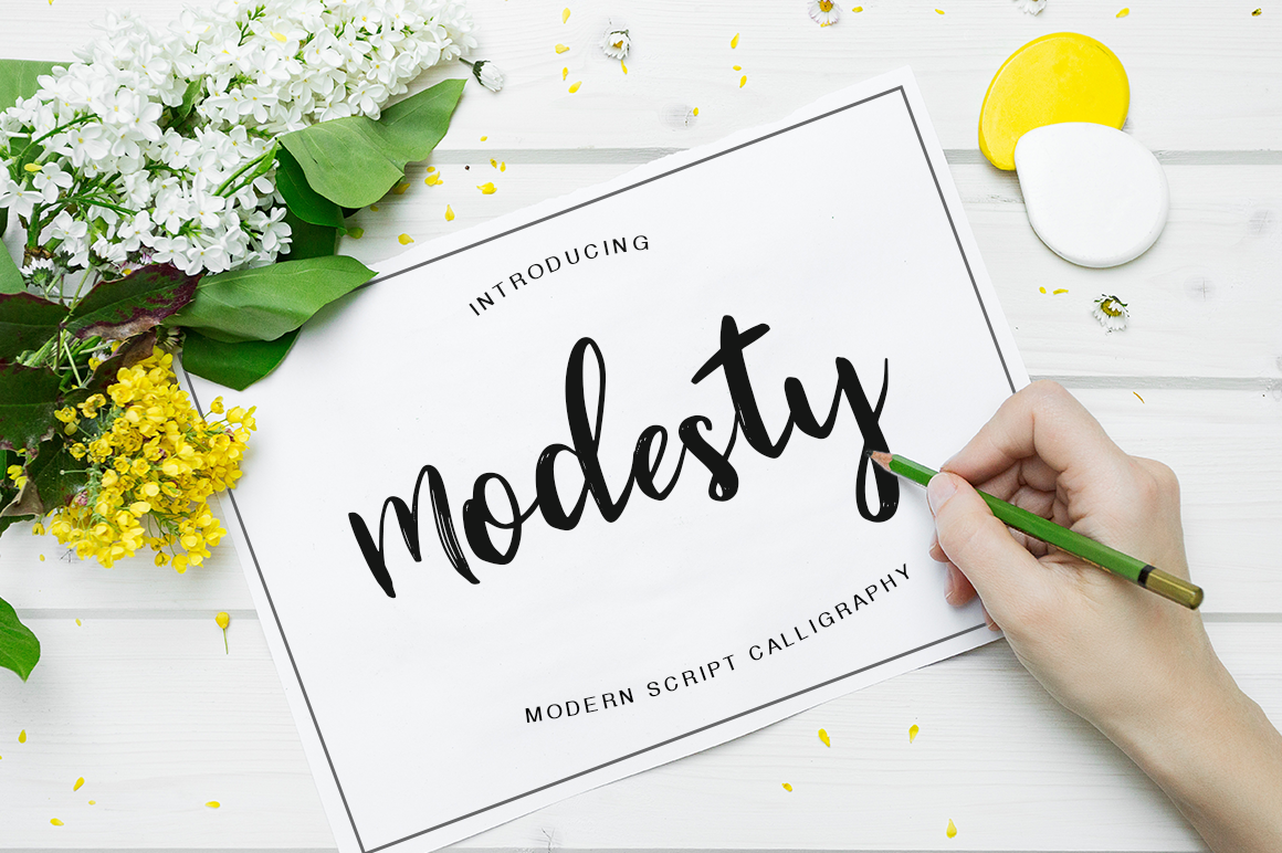 Print on Demand: Modesty Script & Handwritten Font By Pasha Larin
