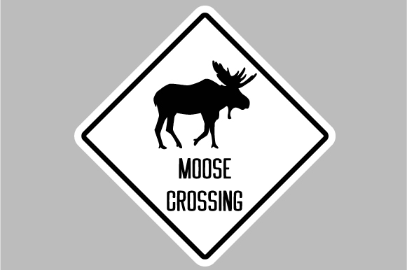 Download Free Moose Crossing Sign Svg Cut File By Creative Fabrica Crafts SVG Cut Files