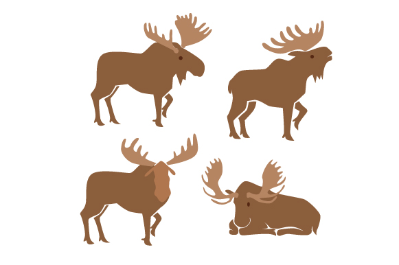Download Free Moose Design Set Svg Cut File By Creative Fabrica Crafts for Cricut Explore, Silhouette and other cutting machines.