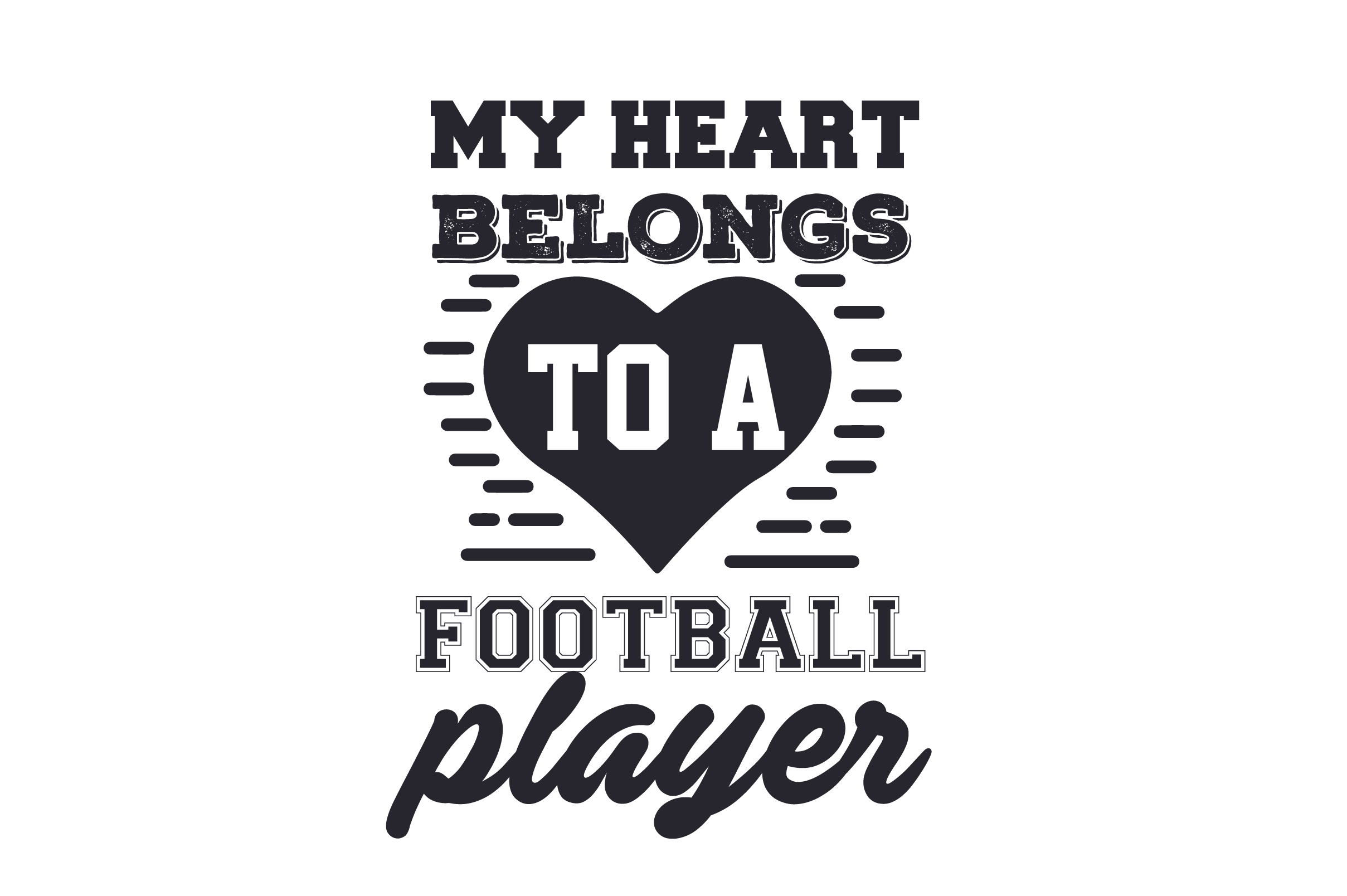 Download Football Heart Cut File PNG