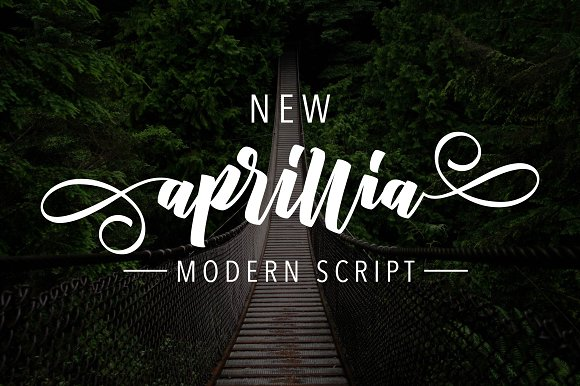 Print on Demand: New Aprillia Script & Handwritten Font By Olexstudio