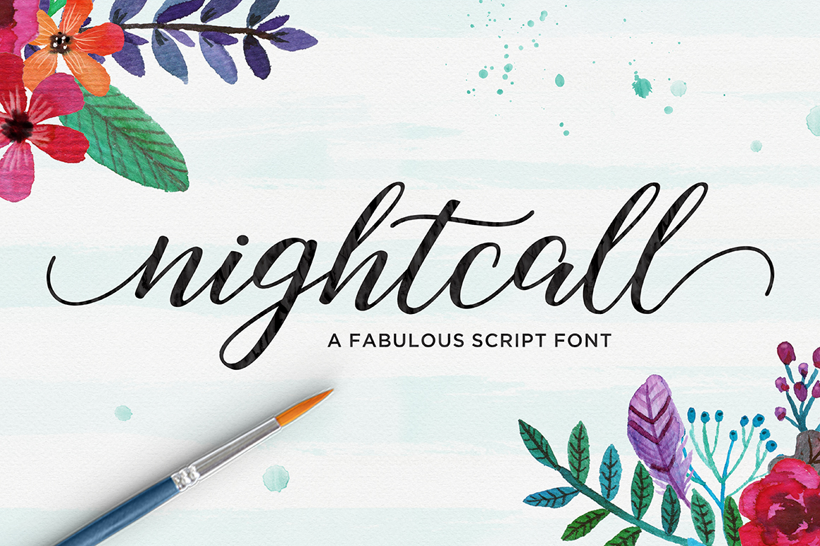Print on Demand: Nightcall Script & Handwritten Font By Picatype Studio