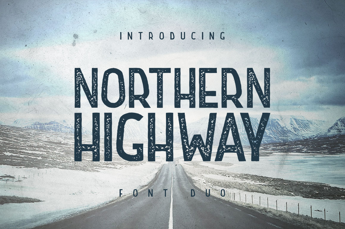 Print on Demand: Northern Highway Display Font By Roman Paslavskiy