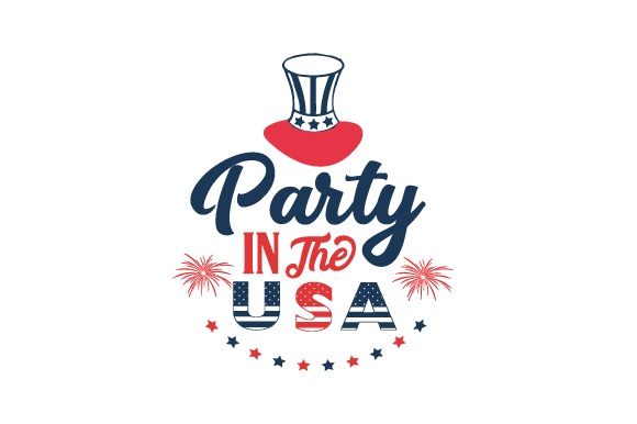 Party in the USA Independence Day Craft Cut File By Creative Fabrica Crafts