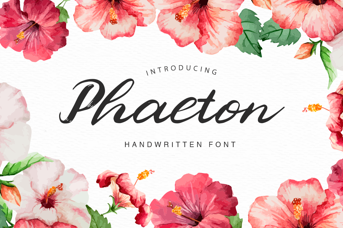 Print on Demand: Phaeton Script & Handwritten Font By Pasha Larin