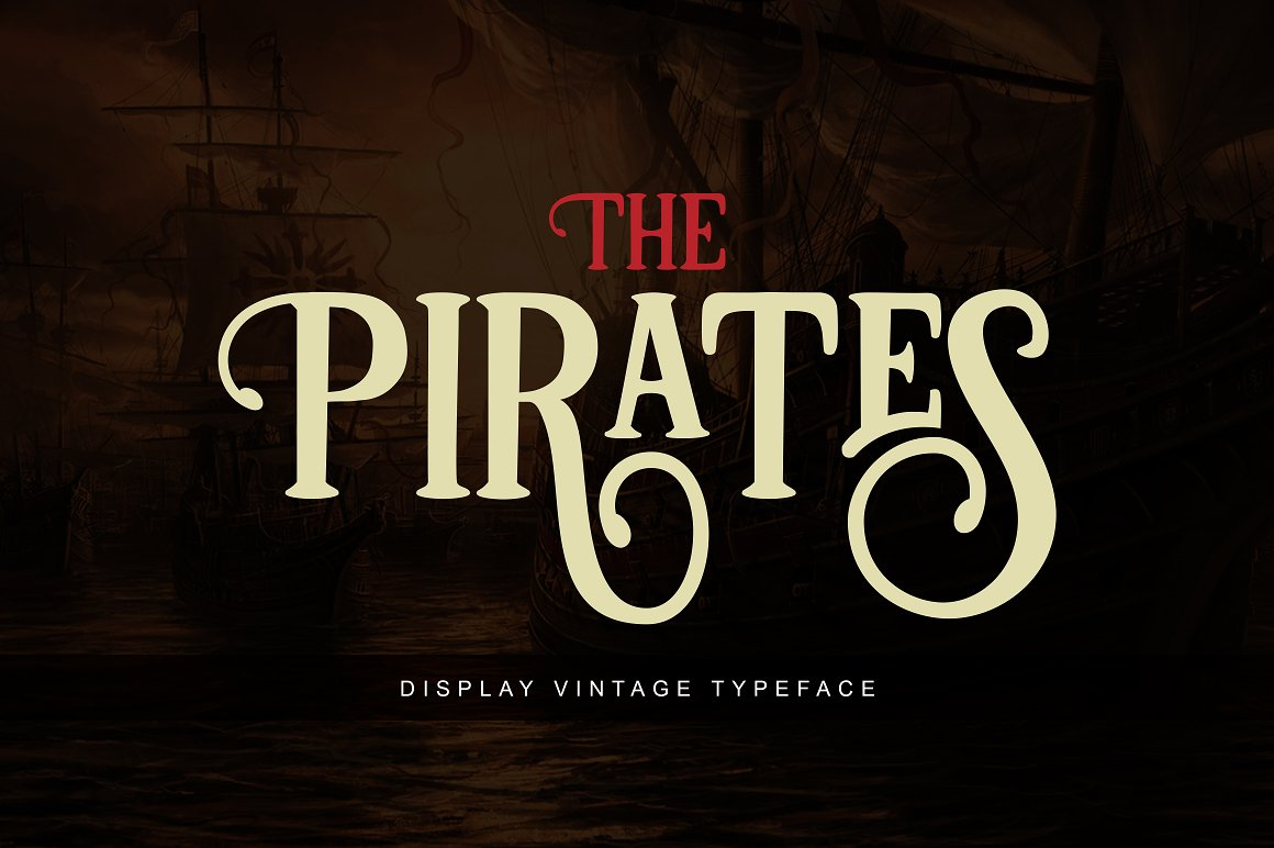 Print on Demand: Pirates Display Schriftarten von Unicode Studio