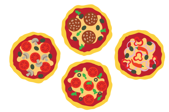 Pizzas Design Set Designs & Drawings Craft Cut File By Creative Fabrica Crafts